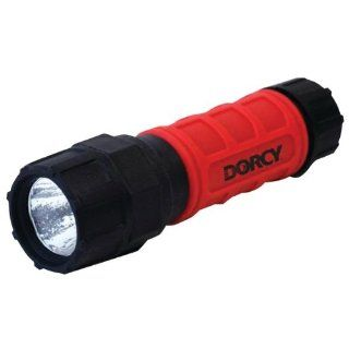 Dorcy 41 4200 Weather Resistant Unbreakable Night Glow LED Flashlight, 140 Lumens, Red Finish
