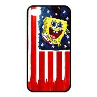 Personalized Cartoon SpongeBob SquarePants Protective Snap on Cover Case for iPhone 4/4S SS143 Cell Phones & Accessories