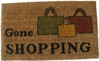 Geo Crafts G143 PVC Backed Coco Door Mat, Gone Shopping (Discontinued by Manufacturer) Patio, Lawn & Garden