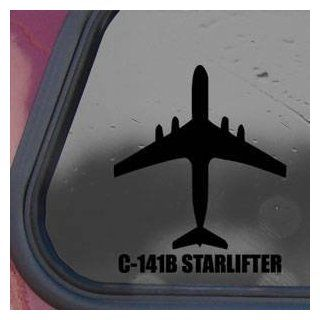 C 141B STARLIFTER Black Sticker Decal Military Soldier Wall Black Sticker Decal   Decorative Wall Appliques