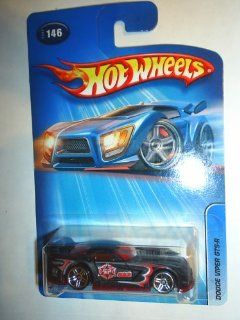 Mattel Hot Wheels 2005 164 Scale Roll Patrol Black & Red Dodge Viper GTS R Die Cast Police Car #146 Toys & Games