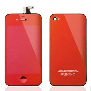 Conversion Kits Chrome Mirror Kit LCD Assembly Repair Parts for iPhone 4S   Plated Red Computers & Accessories
