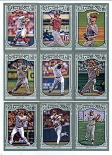 2013 Cincinnati Reds Topps GYPSY QUEEN Baseball Complete Mint 17 Basic Card Team Set; It Was Never Issued in Factory Form. Cards Included Are #12 Aroldis Chapman, #63 Joe Morgan, #64 Joey Votto, #68 Johnny Cueto, #145 Ryan Ludwick, #148 Todd Frazier, #176