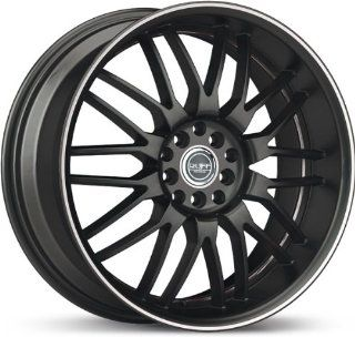 RUFFRACING   r951   18 Inch Rim x 8   (4x100/4x4.5) Offset (45) Wheel Finish   black with machined lip Automotive