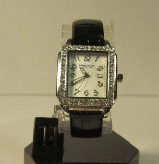 Kenneth Cole   Reaction   Crystals White Dial and Black Leather Watches