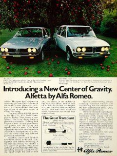 1975 Ad Alfa Romeo Alfetta GT 4 Door Sedan 158/159 Balanced Car Apple Orchard   Original Print Ad