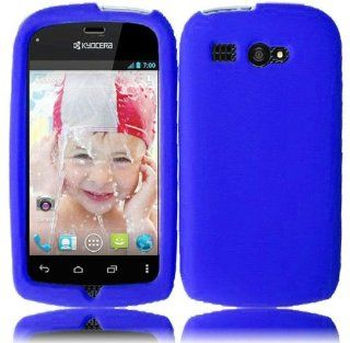 Kyocera Hydro C5170 ( Boost Mobile ) Phone Case Accessory Cool Blue Soft Silicone Rubber Skin Cover with Free Gift Aplus Pouch Cell Phones & Accessories