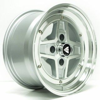 "Enkei APACHE II  Classic Series Wheel, Silver Machined (15x8""   4x100, 25mm Offset) One Wheel/Rim Automotive"