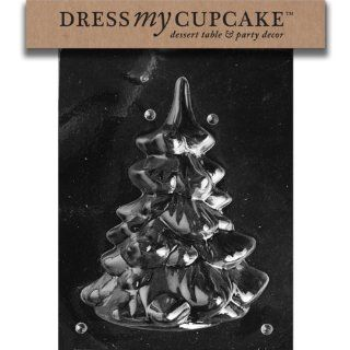 Dress My Cupcake DMCC169B Chocolate Candy Mold, Medium/Large Tree Piece 2, Christmas Kitchen & Dining