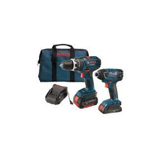 Factory Reconditioned Bosch CLPK243 181 RT 18V Cordless Lithium Ion 3/8 in. Compact Drill Driver and Impact Driver Combo Kit