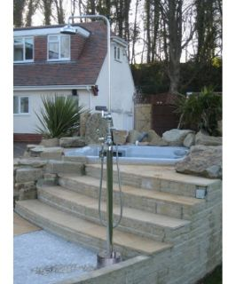 Outdoor Shower Company Hot & Cold Free Standing Shower   Outdoor Showers