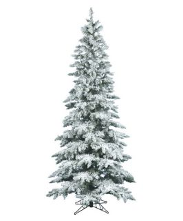 Vickerman 9 ft. Flocked Slim Utica Fir Christmas Tree   Christmas Trees
