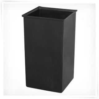 Safco Push Top Black and Chrome Metal 36 Gallon Commercial Trash Can   Trash Cans