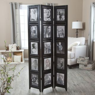 Memories Double Sided Photo Frame Room Divider   Black 3 Panel   8 x 10   Room Dividers