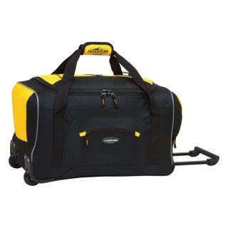 Travelers Club 22 in. Rolling Duffel Bag   Yellow/Black   Sports & Duffel Bags
