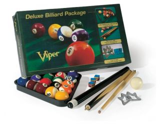 GLD Billiards Viper Deluxe Billiard Pool Cue Package   Pool Cues