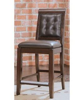 American Drew Tribecca Leather Counter Stool   1 Stool   Dining Chairs