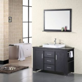 Design Element Washington 48 in. Single Bathroom Vanity Set   Single Sink Bathroom Vanities