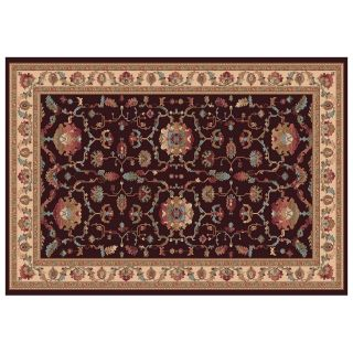 Dynamic Rugs Radiance Collection 47 x 24 Hearth Rug Chocolate Gentile   Hearth Rugs