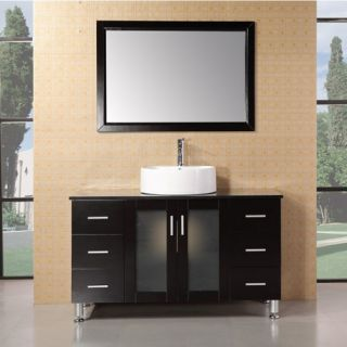 Design Element Malibu 48 in. Single Bathroom Vanity Set   Espresso   Single Sink Bathroom Vanities