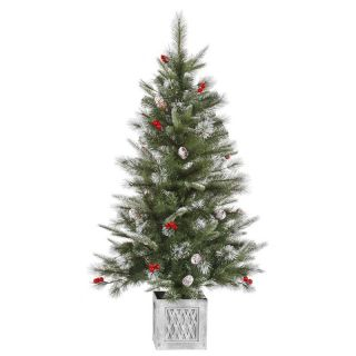 Vickerman Frosted Pine Berry Pre Lit Christmas Tree   Christmas Trees