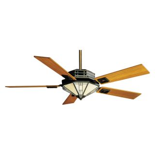 Casablanca 56 in. Mission Indoor Ceiling Fan with Light   Bronze Patina   Ceiling Fans