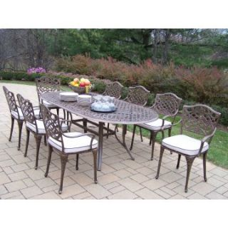Oakland Living Mississippi Cast Aluminum 82 x 42 in. Patio Dining Set   Seats 8   Patio Dining Sets