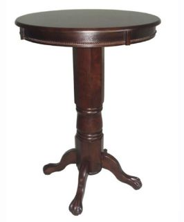 Boraam Florence Sunburst Pedestal Pub Table Cappuccino   Pub Tables