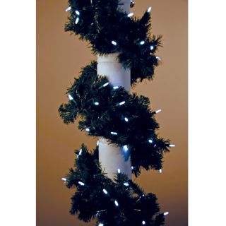 9 ft. Sierra Fir Garland   100 LED Mini Bulbs   Swags & Garland