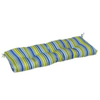 Greendale Home Fashions Indoor Bench Cushion   51 x 18 in.   Vivid Stripe   Bench Cushions