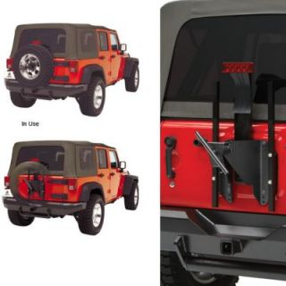 2007 2011 Jeep Wrangler (JK) Spare Tire Carrier   Bestop, Steel, Black