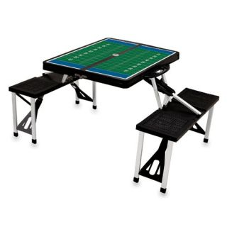 Black Folding Picnic Table With Football Imprint   Picnic Tables