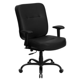 Flash Furniture Hercules Series 500 lbs. Capacity Big and Tall Leather Office Chair with Extra Wide Seat   Desk Chairs