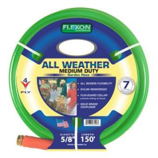 Flexon 5/8 in. All Weather 4 Ply Reinforced Nylon Garden Hose   150 ft.   Water Hoses