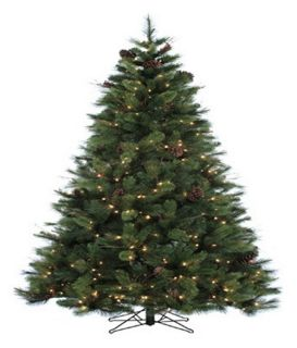6.5 ft. Appalachian Fir Pre Lit Christmas Tree   Christmas Trees