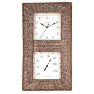 Acu Rite 12 Inches Wide Indoor/Outdoor Wall Clock   Thermometers