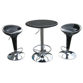 Boraam Luna 3 Piece Adjustable Height Pub Table Set   Pub Tables