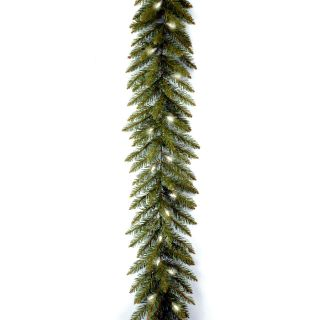 9 ft. Dunhill Fir Pre lit Garland   Swags & Garland
