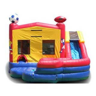 EZ Inflatables Double Drop Sport Combo Bounce House   Commercial Inflatables