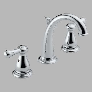 Delta Leland 3575LF Double Handle Widespread Bathroom Sink Faucet   Bathroom Sink Faucets