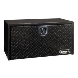 Buyers Black Steel Underbody Toolbox with Black Aluminum Diamond Tread Door   Truck Tool Boxes