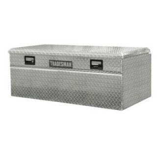 Tradesman Full size Single Lid Wide Design Flush Mount Truck Tool Box   Bright Aluminum   Truck Tool Boxes