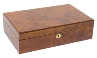 High Gloss Maple Burl Watch Box   Watch Winders & Watch Boxes