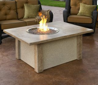 Outdoor GreatRoom San Juan Gas Fire Pit Table   Propane Fire Pits
