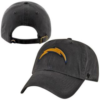 47 Brand San Diego Chargers Cleanup Adjustable Hat   Charcoal