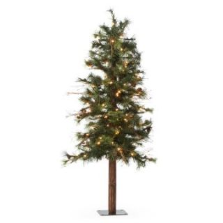 4 ft. Pre lit Clear Light Mixed Country Alpine Christmas Tree   Christmas Trees