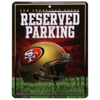 San Francisco 49ers 8.5 x 11 Metal Reserved Parking Sign
