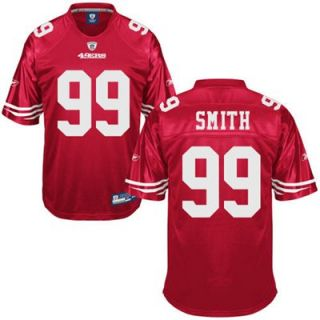 Reebok Aldon Smith San Francisco 49ers Replica Football Jersey   Cardinal