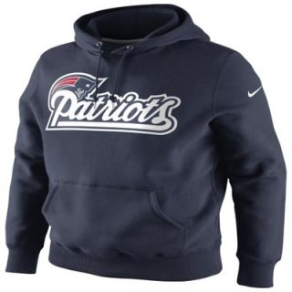 Nike New England Patriots NFL Wordmark PO Hooded Sweatshirt   Navy Blue