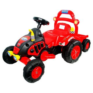 EZ Riders Red Range Tractor Battery Powered Riding Toy with Trailer   Battery Powered Riding Toys